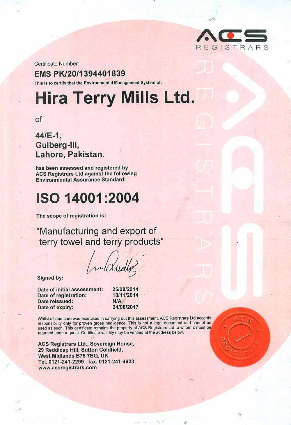 Hira Terry Mills Limited